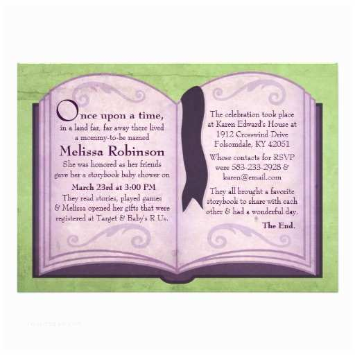 """Storybook themed Baby Shower Invitations Storybook Baby Shower Invitations 5"""" X 7"""" Invitation Card"""
