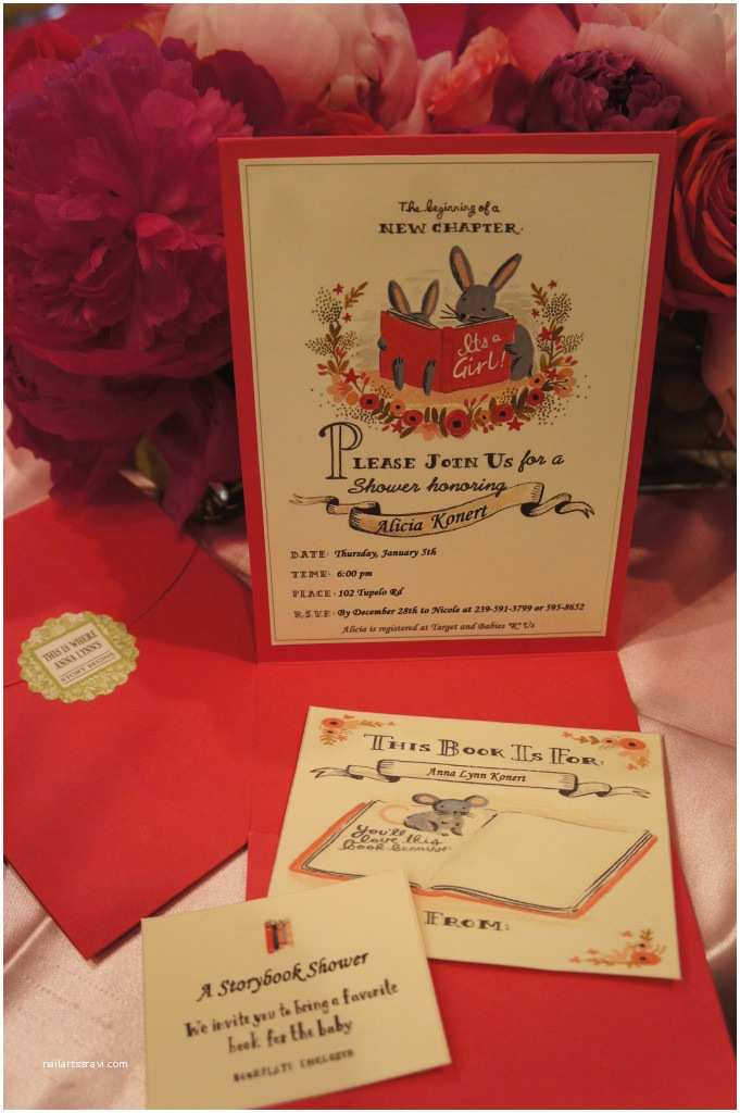 Storybook Themed Baby Shower Invitations Storybook Baby Shower Project
