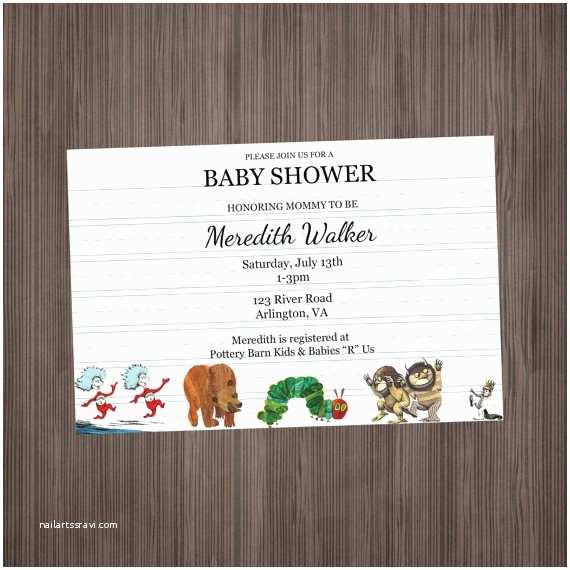 Storybook Themed Ba Shower Invitations Storybook Invitation Ba Shower Or Birthday