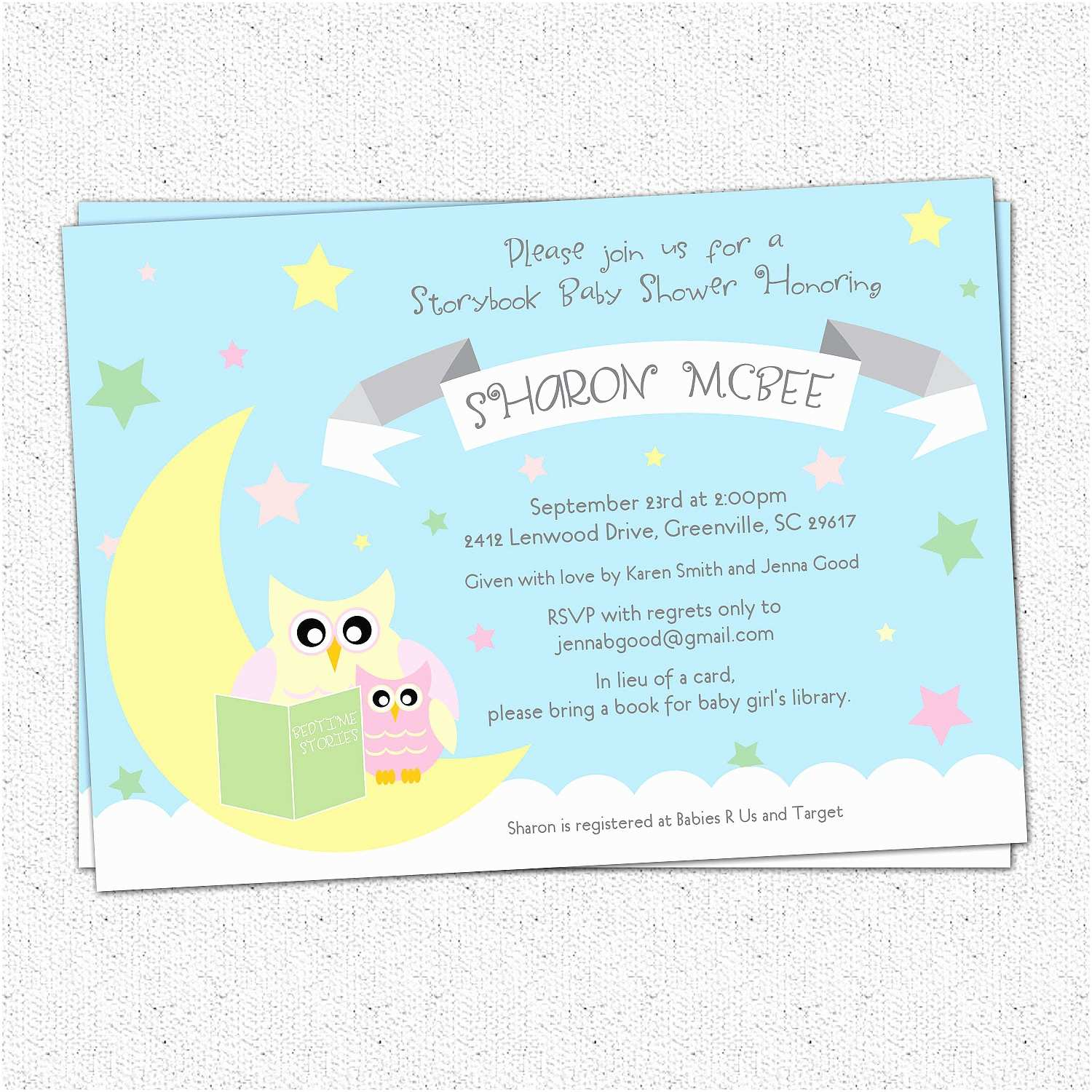 Storybook Themed Baby Shower  Storybook Themed Baby Shower