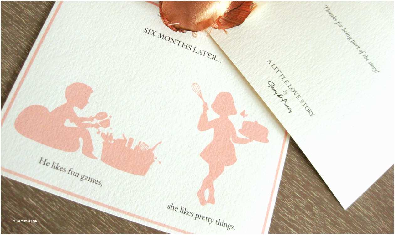glory averys silhouette storybook wedding invitations