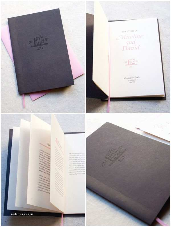 Storybook Wedding Invitations Micaline David S Library Storybook Wedding Invitations