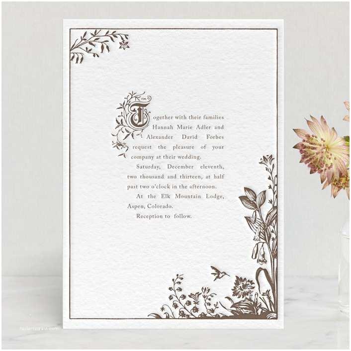 Storybook Wedding Invitations Storybook Letterpress Wedding Invitations by Jody Wody