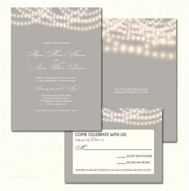 String Lights Wedding Invitation String Lights Wedding Invitation