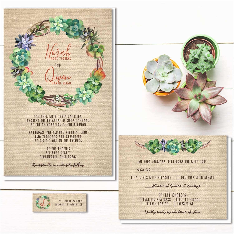 Succulent Wedding Invitations Succulent Wedding Invitations – Gangcraft