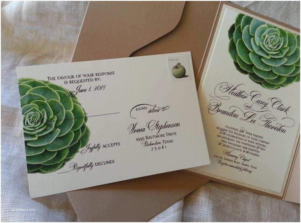 Succulent Wedding Invitations the Design Series Succulent Inspired Invitations