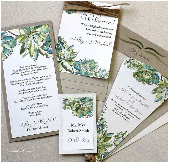 Succulent Wedding Invitations top Collection Succulent Wedding Invitations