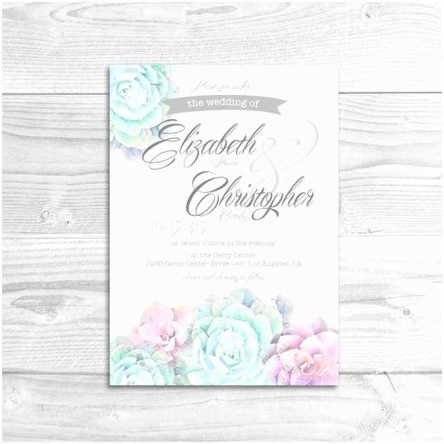 watercolor succulent wedding invitation diy printable invitation rustic wedding whimsical wedding