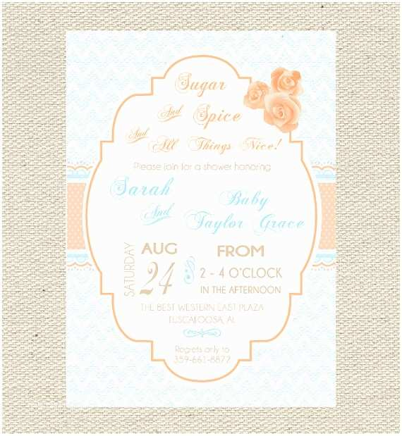 Sugar and Spice Baby Shower Invitations 301 Moved Permanently