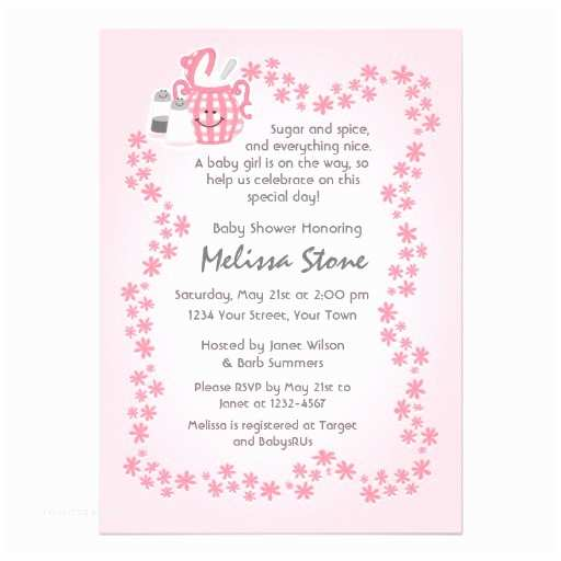 Sugar and Spice Baby Shower Invitations Cute Sugar & Spice Baby Shower Invitation 13 Cm X 18 Cm