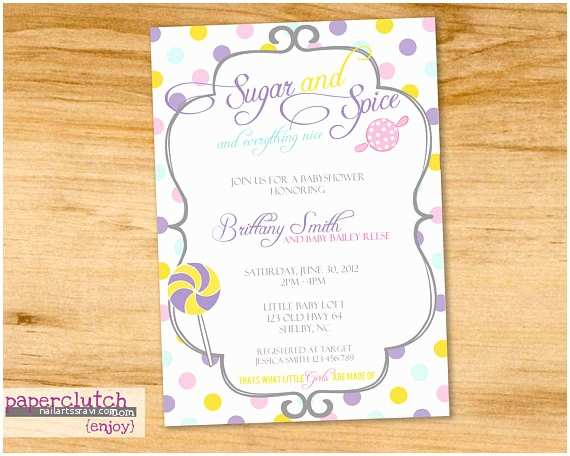 Sugar and Spice Baby Shower Invitations Items Similar to Sugar and Spice Baby Shower Invitation
