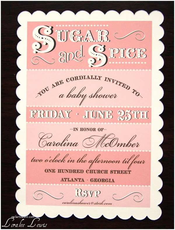 Sugar and Spice Baby Shower Invitations Puppy Dogs' Tails & Sugar and Spice Invitation Collections
