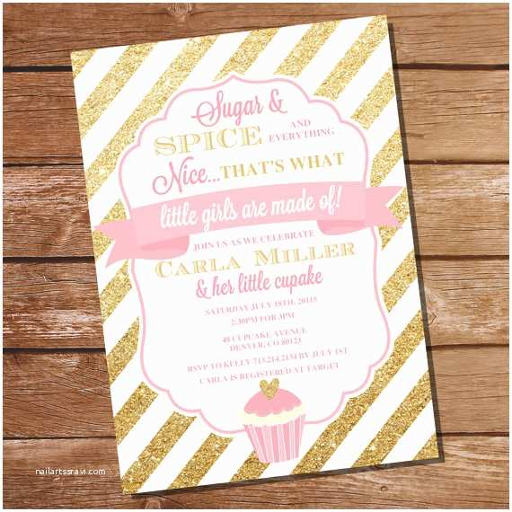 Sugar and Spice Baby Shower Invitations Sugar and Spice Baby Shower Invitation Sugar and Spice
