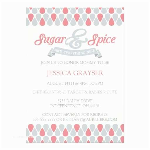 Sugar and Spice Baby Shower Invitations Sweet Sugar and Spice Baby Shower Invitations 2