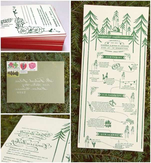 Summer Camp Wedding Invitations Camping themed Wedding Gallery Wedding Decoration Ideas