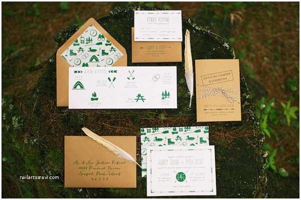 Summer Camp Wedding Invitations Moje Wielkie Wiejskie Wesele 7 Zaproszeń W Stylu