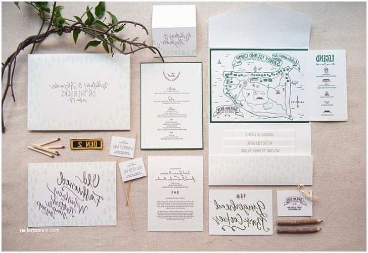 Summer Camp Wedding Invitations What is Included In A Wedding Invitation Suite