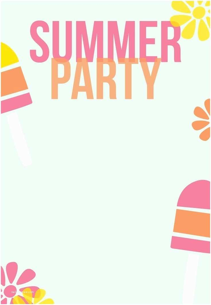 Summer Party Invitations Summer Party Invitation Template