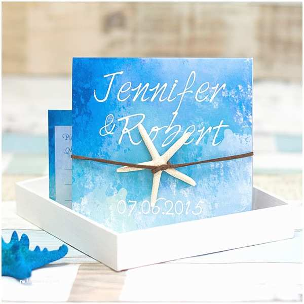 Summer Wedding Invitations Starfish Folded Beach Summer Wedding Invitation Ewri029 as