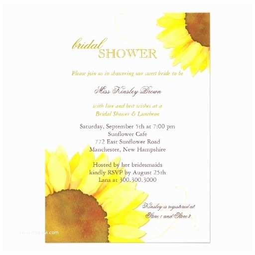 Sunflower Bridal Shower Invitations 15 Best Bridal Shower Invitations Wording Images On