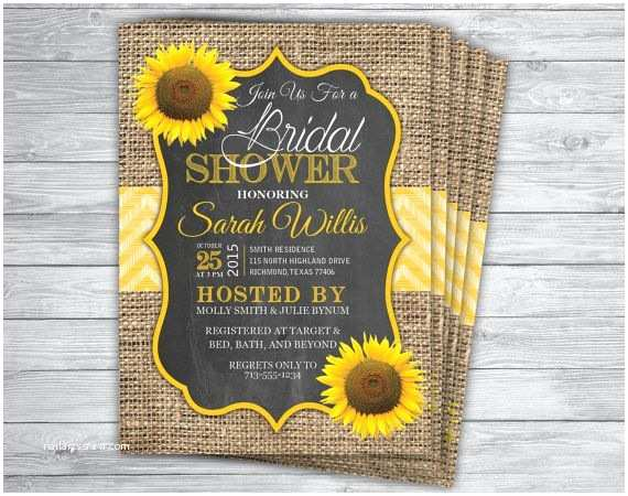 Sunflower Bridal Shower Invitations 17 Best Ideas About Bridal Shower Chalkboard On Pinterest