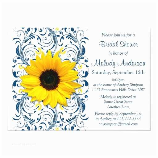 Sunflower Bridal Shower Invitations Bridal Shower Invitations Bridal Shower Invitations