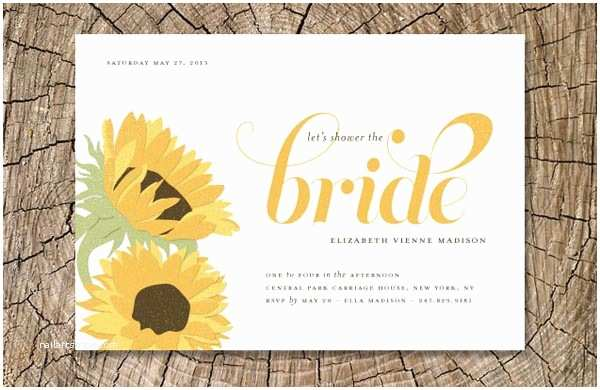 Sunflower Bridal Shower Invitations Bridal Shower Invitations Easyday