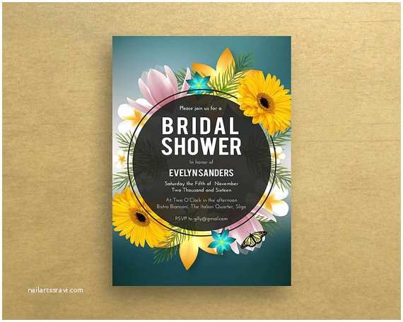 Sunflower Bridal Shower Invitations Bridal Shower Invitations Sunflower Bridal Shower