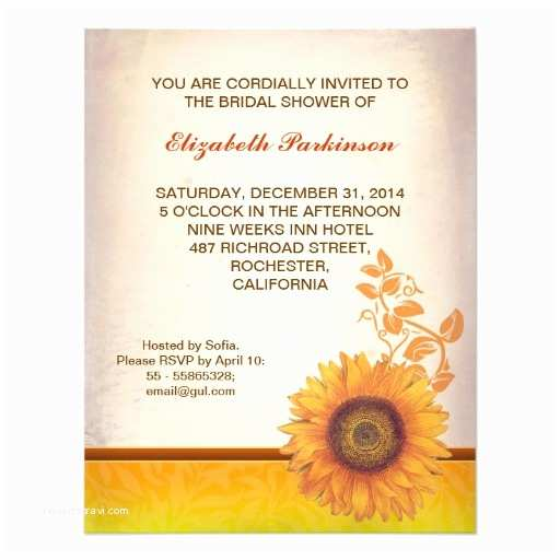 Sunflower Bridal Shower Invitations Bridal Shower Invitations Zazzle Sunflower Bridal Shower