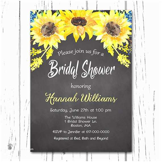 Sunflower Bridal Shower Invitations Items Similar to Sunflower Bridal Shower Invitation