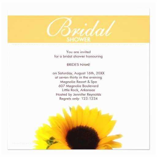 Sunflower Bridal Shower Invitations Sunflower Bridal Shower Invitation