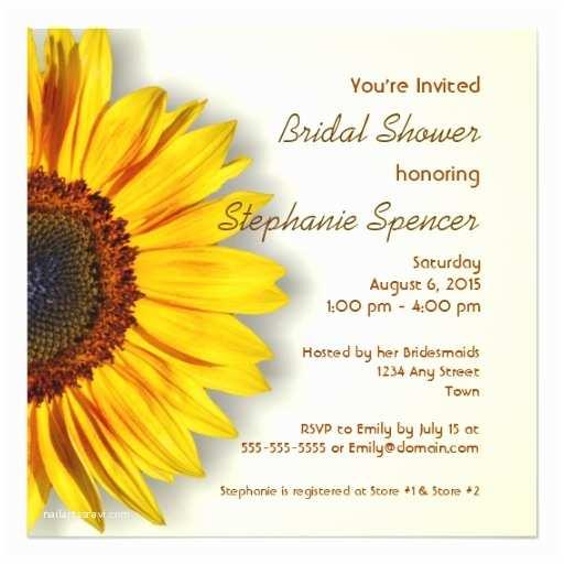 Sunflower Bridal Shower Invitations Sunflower Bridal Shower Invitation