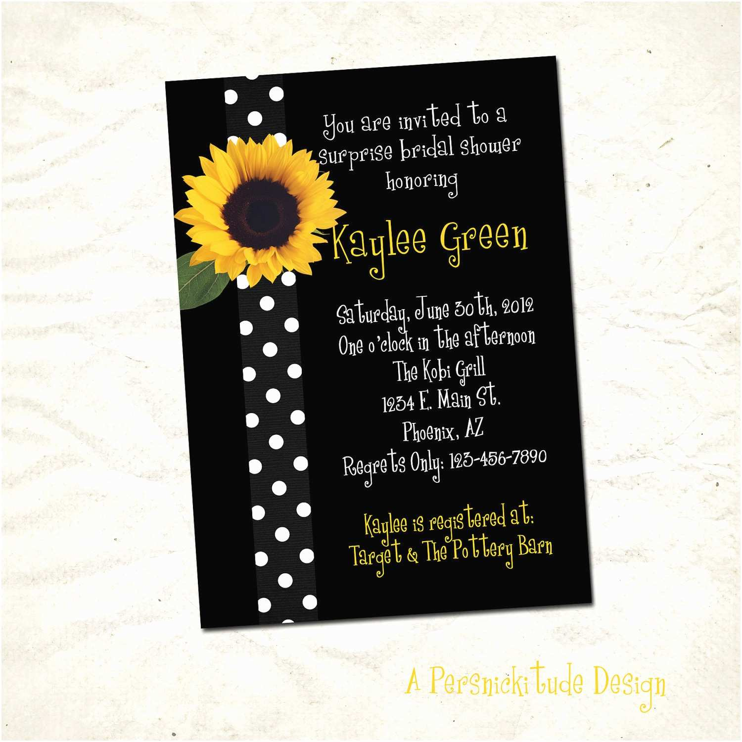 Sunflower Bridal Shower Invitations Sunflower Bridal Shower Invitation Print Yourself File
