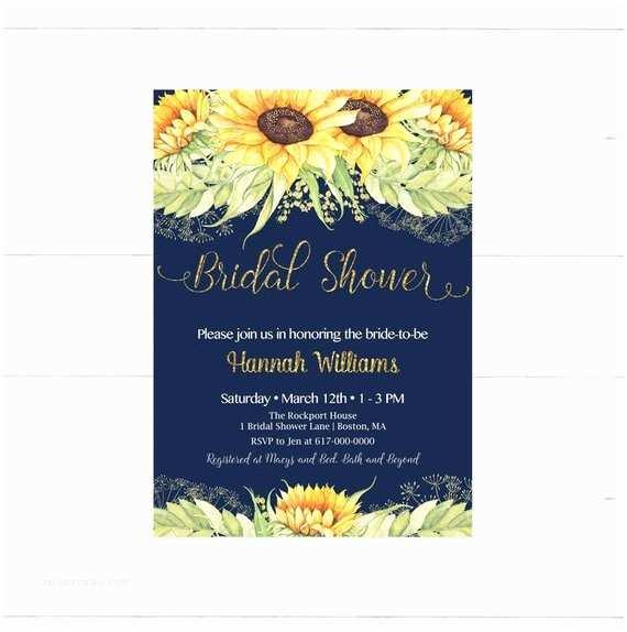 Sunflower Bridal Shower Invitations Sunflower Bridal Shower Invitation Sunflowers Bridal