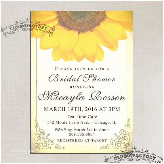 Sunflower Bridal Shower Invitations Sunflower Bridal Shower Invitations Printable Bridal Shower