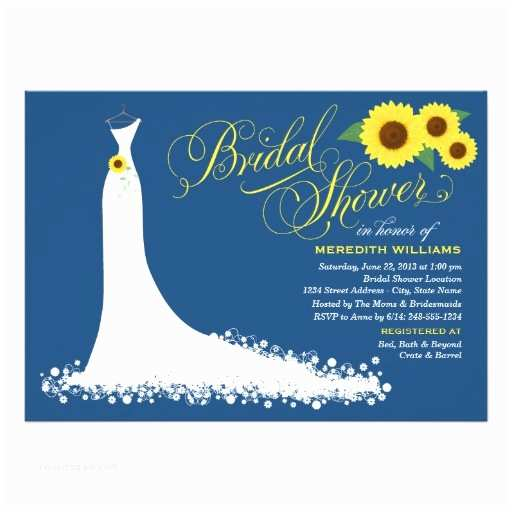 Sunflower Bridal Shower Invitations Sunflower Wedding Favors