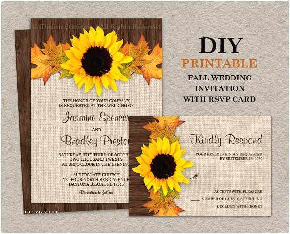Sunflower Wedding Invitations Sunflower Wedding Invitation 16 Psd Jpg format Download