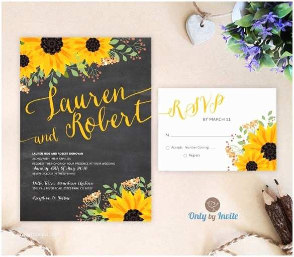 Sunflower Wedding Invitations Sunflower Wedding Invitations Template Resume Builder