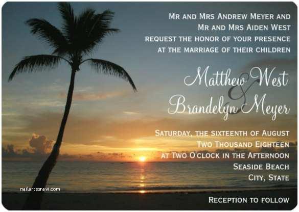 Sunset Beach Wedding Invitations 25 Beach Wedding Invitation Templates – Free Sample