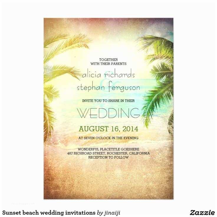 Sunset Beach Wedding Invitations 42 Best Beach Wedding Ideas Images On Pinterest
