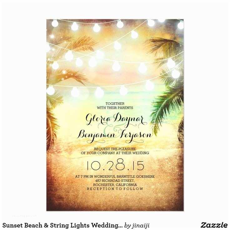 Sunset Beach Wedding Invitations 49 Best Beach Wedding theme Images On Pinterest