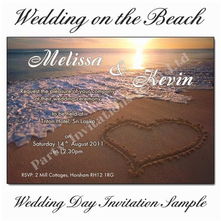 Sunset Beach Wedding Invitations Beautiful Beach Sunset Wedding Invitations
