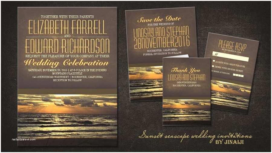 Sunset Beach Wedding Invitations Read More – Modern Sunset Beach Wedding Invitations