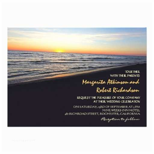 Sunset Beach Wedding Invitations Sunset Beach Sea Wedding Invitations