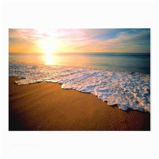 "Sunset Beach Wedding Invitations Sunset Beach Wedding Invitation 5"" X 7"" Invitation Card"