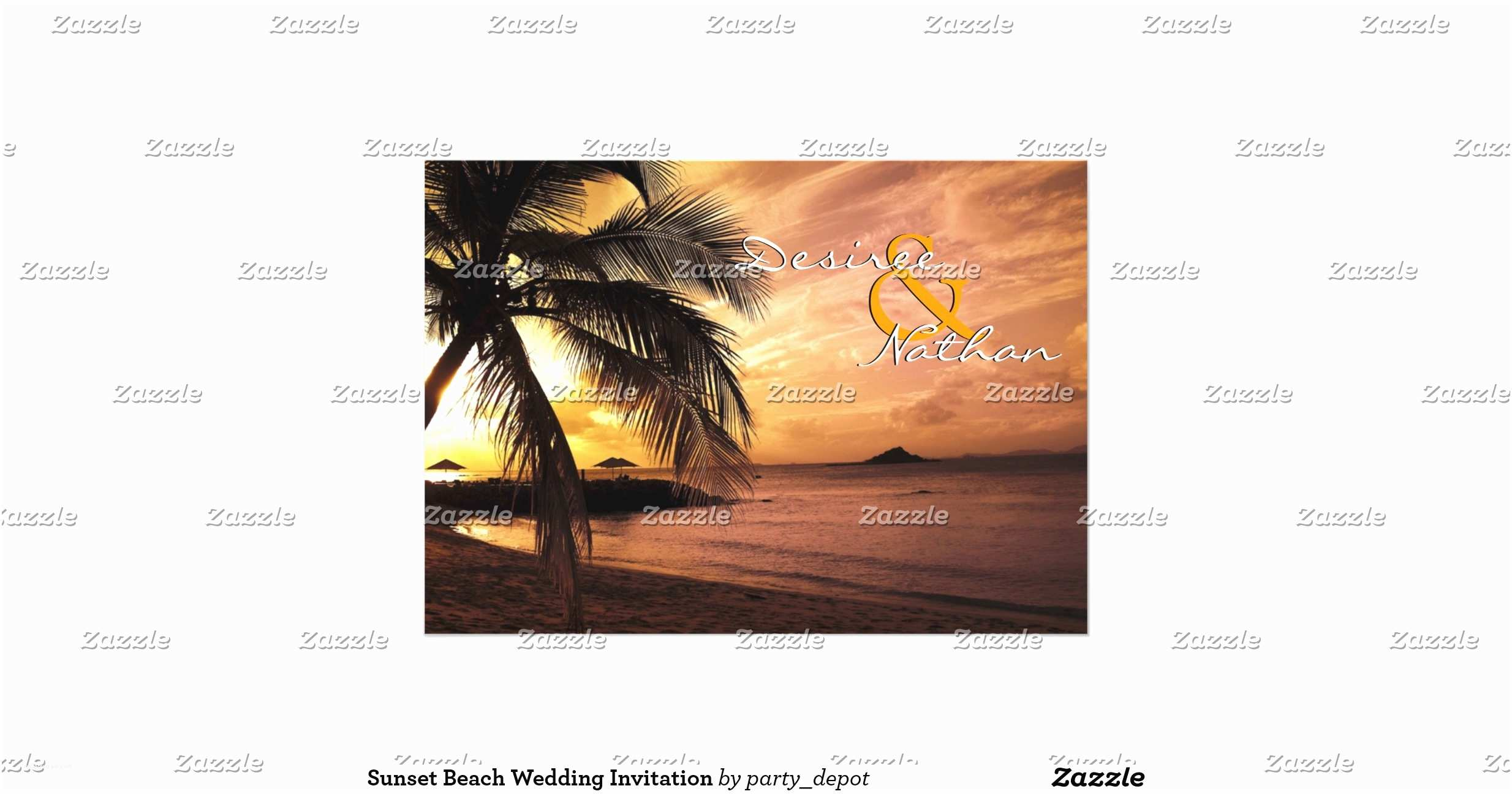 Sunset Beach Wedding Invitations Sunset Beach Wedding Invitation