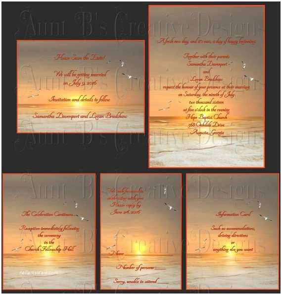 Sunset Beach Wedding Invitations Sunset Beach Wedding Invitation Sunset Beach Wedding