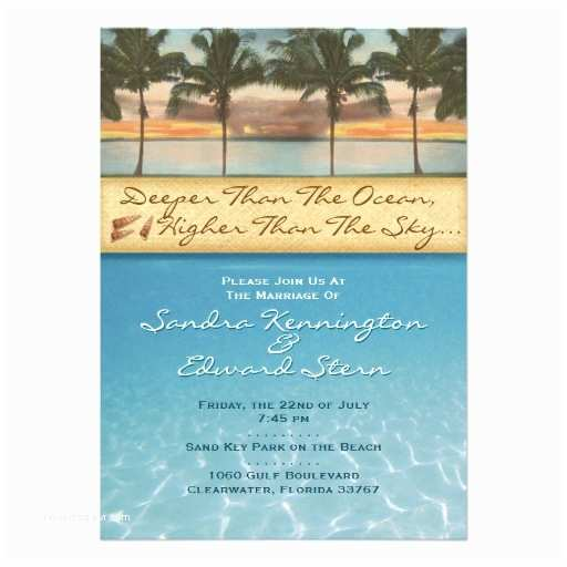 Sunset Beach Wedding Invitations Sunset Beach Wedding Invitations