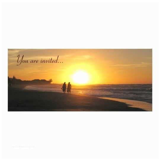 Sunset Beach Wedding Invitations Tropical Sunset Beach Wedding Invitation Template