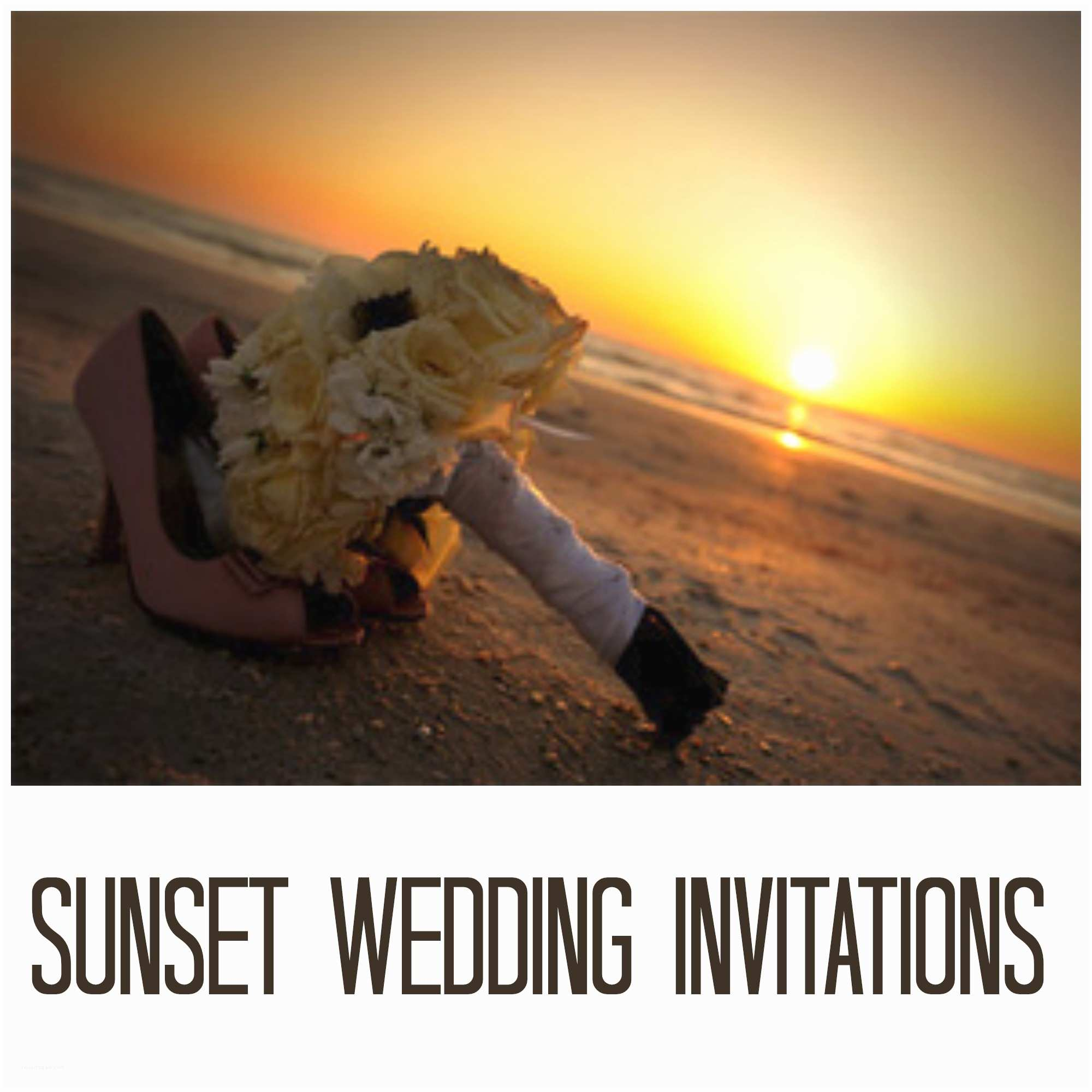Sunset Beach Wedding Invitations Wedding Invitation Wording Sunset Beach Wedding